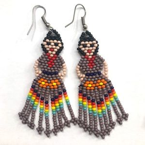 Purple Doll Earrings
